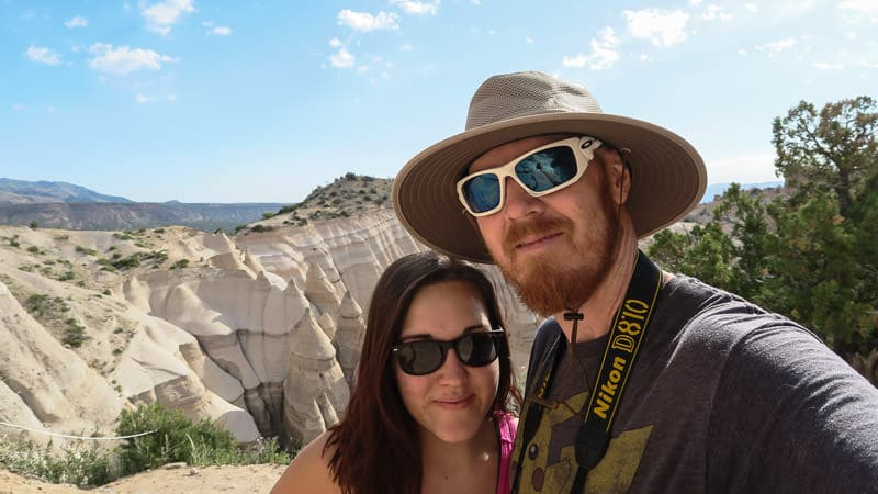 Brooke and Buddy at the top of the slot canyon hike