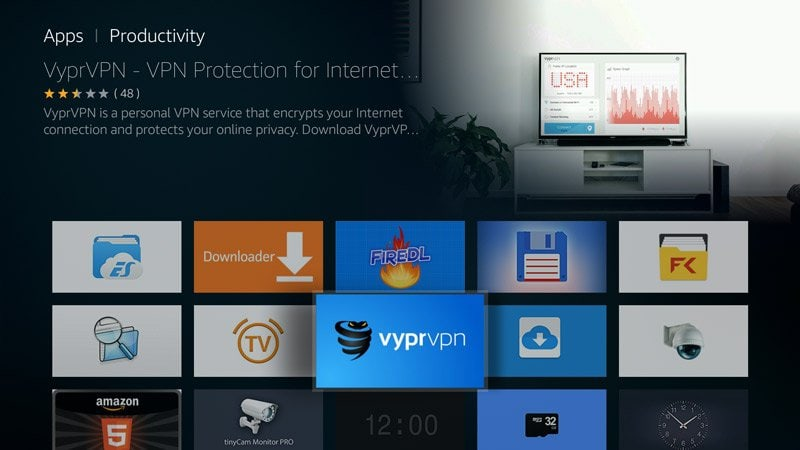 VyprVPN app on FireTV Fire Stick