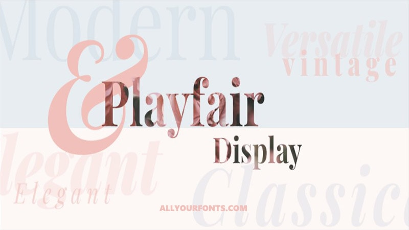 Playfair Display Font Free Download