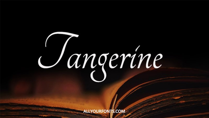 Tangerine Font Family Free Download