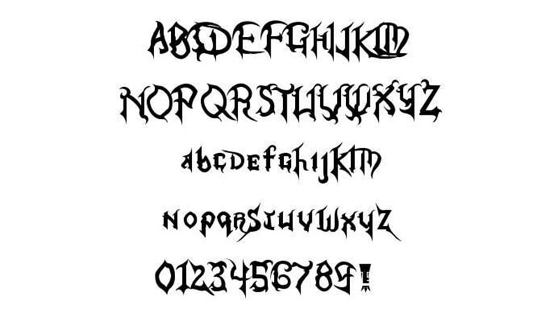 Kingdom Hearts Font Family Download