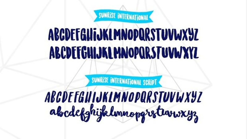 Sunrise International Font Family Download