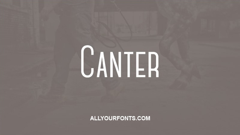 Canter Font Free Download