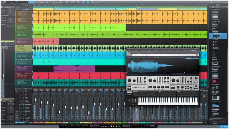 pantalla principal de Presonus Studio