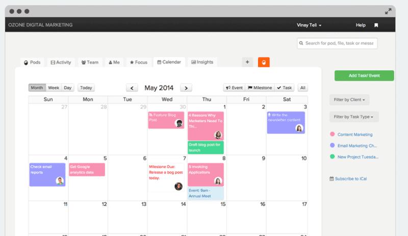 BrightPod - best content calendar tool