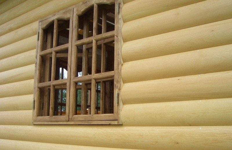 Отделка фасада дома блок-хаусом