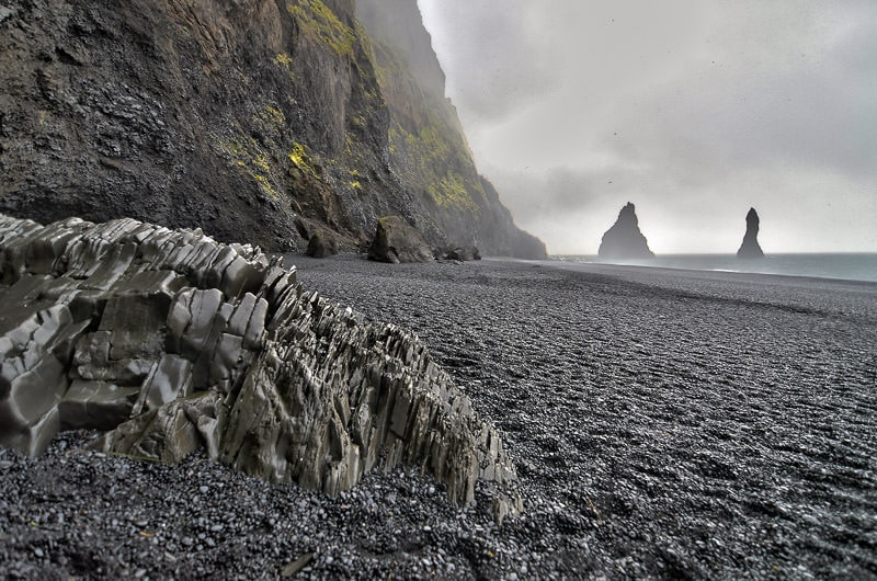 Vik black sand beach in Iceland, the inspiration for the name of our Winnebago View