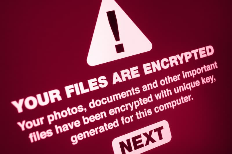 image showing ransom note after malware file encryption