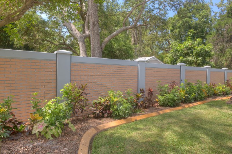 Permacast precast concrete fence completed project