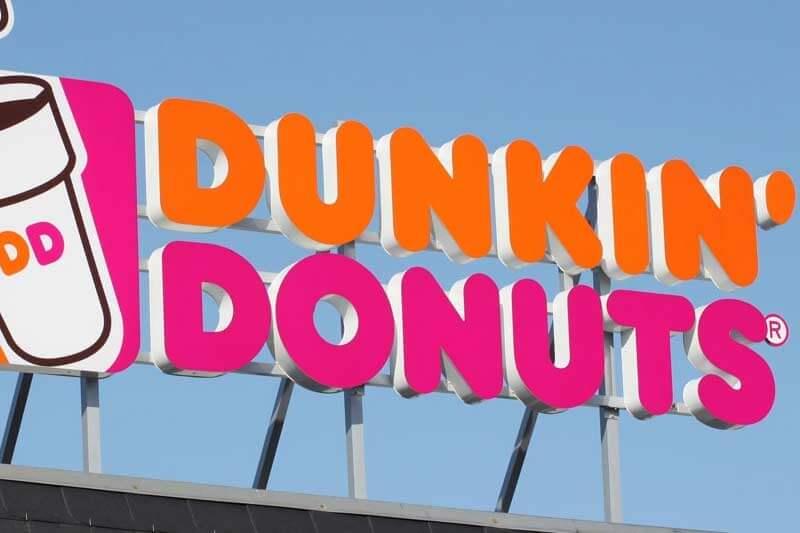 Dunkin' Donuts skylt