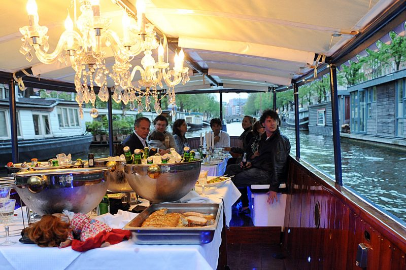 Dinner cruise Amsterdam,  rondvaart Amsterdam met eten