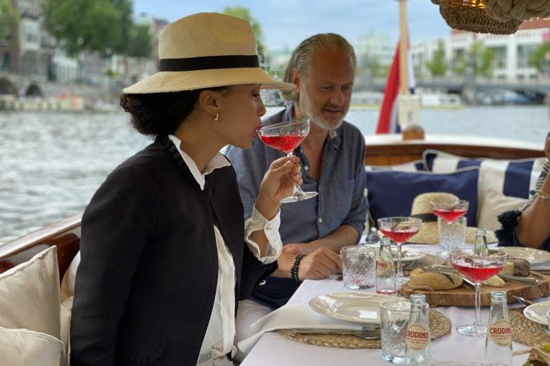 Wijn cruise of diner cruise in amsterdam