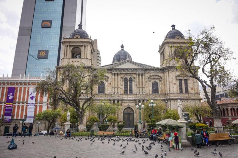 La Paz Bolivia-Catedral en la La Plaza Murillo