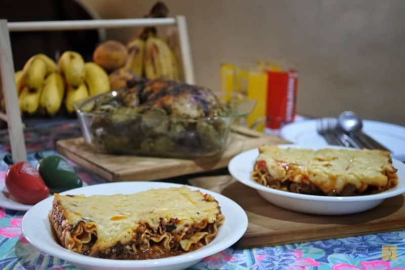 Purple Palayok - Whole Herb Roasted Chicken and Beef Lasagna