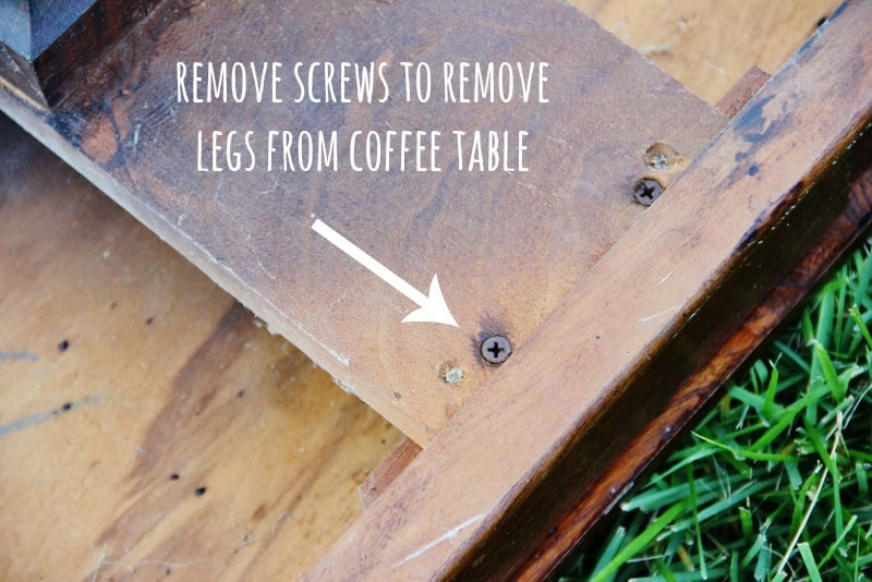 Simply remove the screws to take the legs off the table