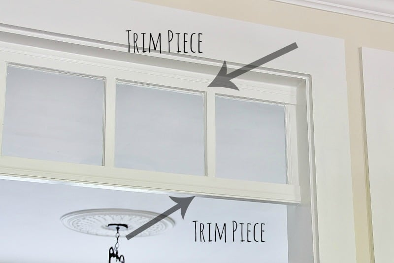 DIY transom window project made from an old window thistlewoodfarms.com