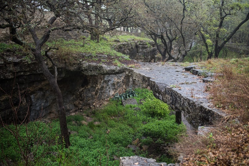The bridge that started it all at Natural Bridge Caverns