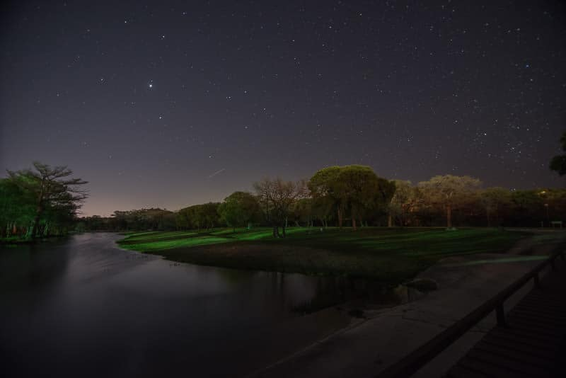 Clear night sky at by the river texas slow travel as full-time RVers