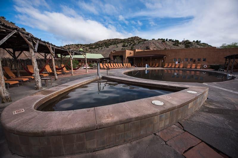 Ojo Caliente Mineral Springs & Spa on a blue sky day