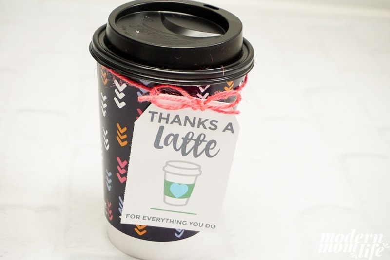 coffee gift tag