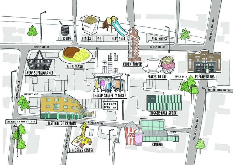 Poplar HARCA Chrisp Street Map Poplar London Map