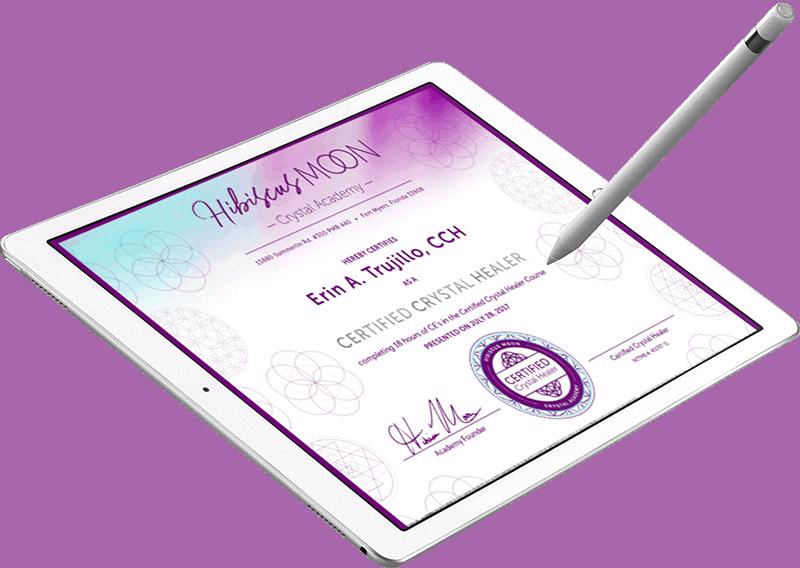 Hibiscus Moon example certificate