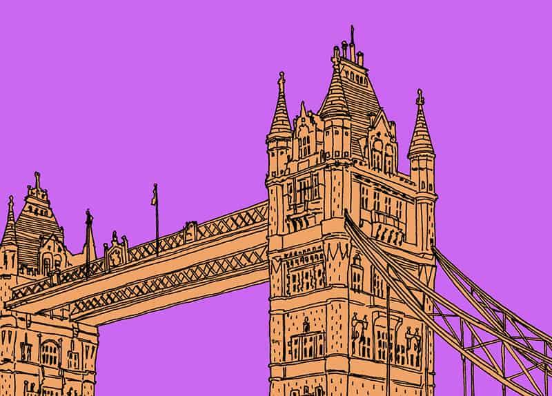 Jitesh Patel illustration Tower Bridge