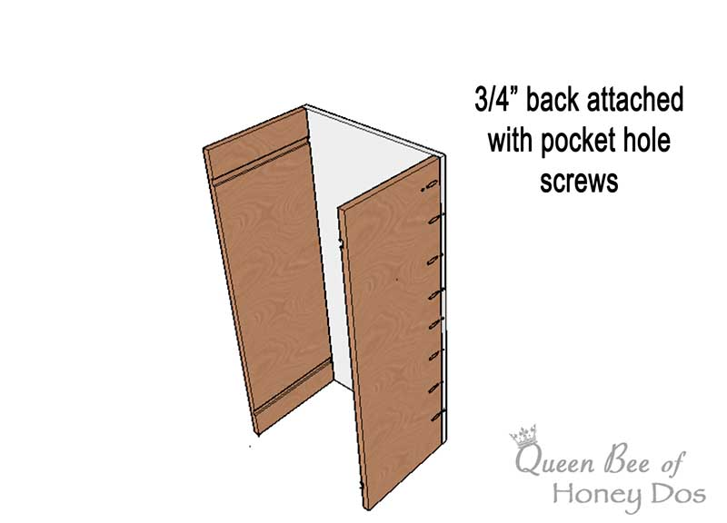 diagram of wall cabinet construction