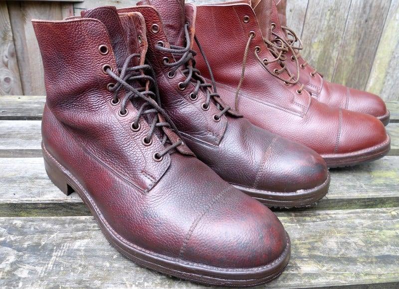 Så här ser oftast veldtschoen-skor ut, grova kängor gjorda för att tåla det mesta.