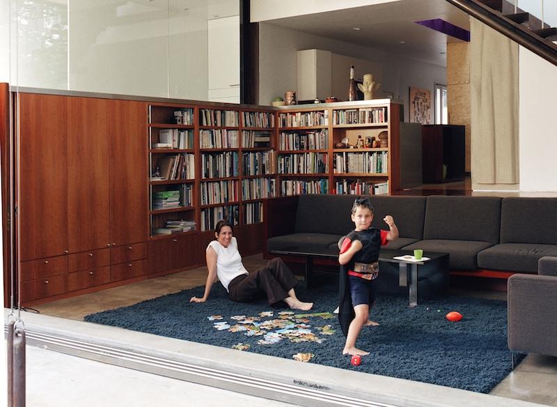 Passive Solar House- Umbrella House - Living Room