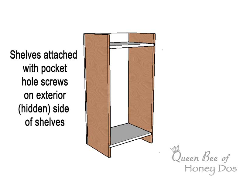 sketch of wall cabinet construction