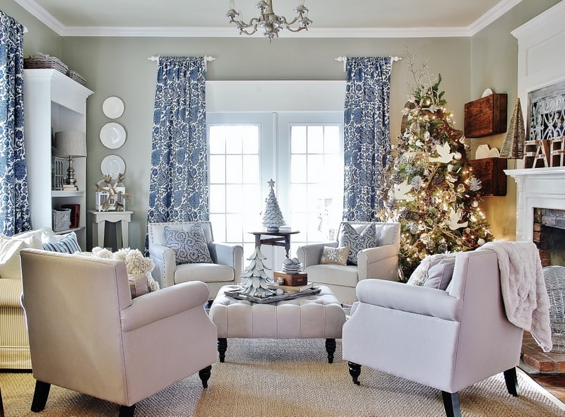 blue and white Christmas Thistlewood