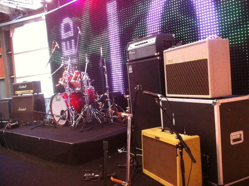 Band Backline for Hire onstage