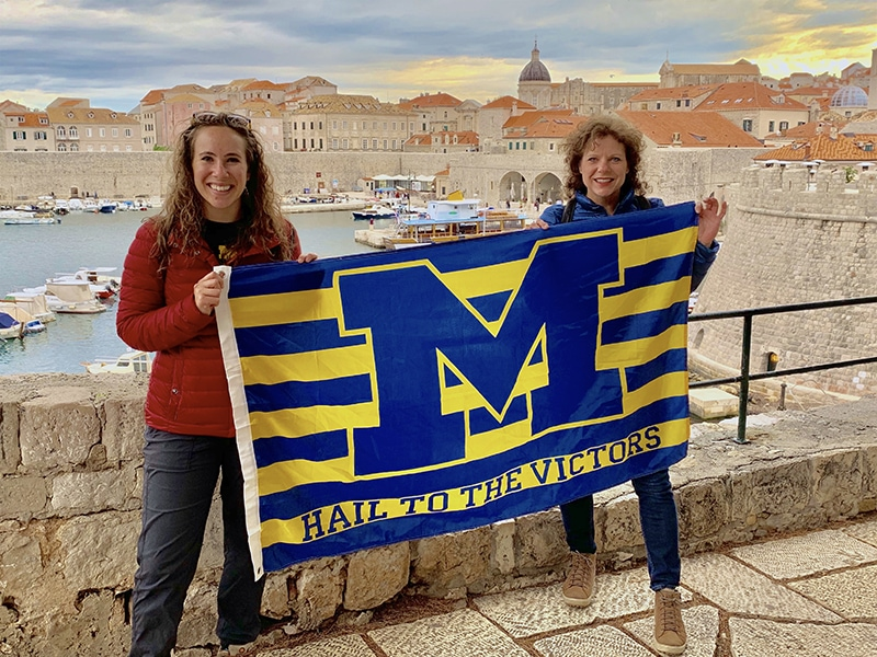 Kate Vogel, '18, and her mother, Lisa, '90, hailed to the victors in Dubrovnik, Croatia, during a recent trip.