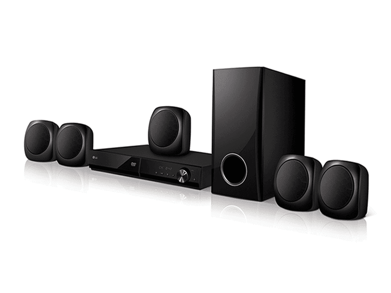 LG 5.1Ch Bluetooth DVD Home Theatre System 330W – LHD427