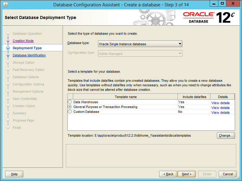 Oracle DBCA 12.2 - Step 03