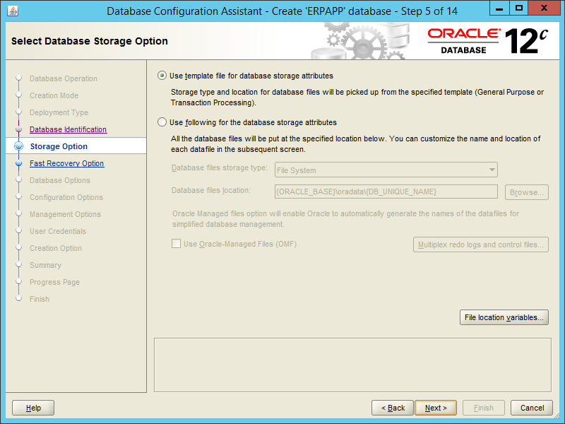 Oracle DBCA 12.2 - Step 05