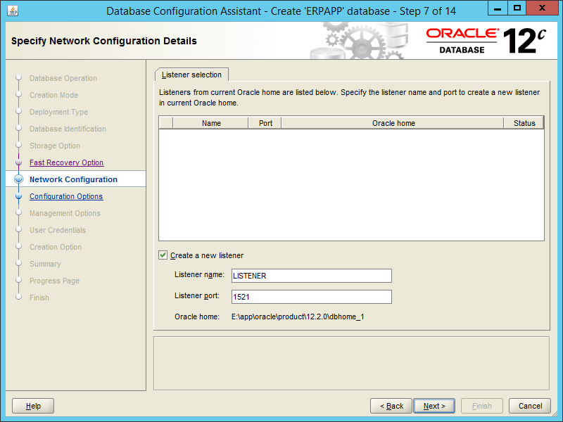 Oracle DBCA 12.2 - Step 07