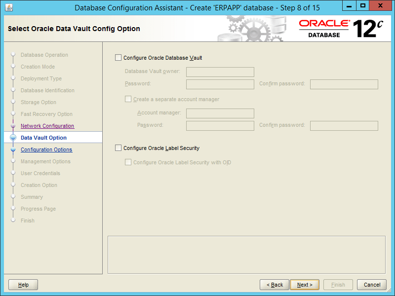 Oracle DBCA 12.2 - Step 08