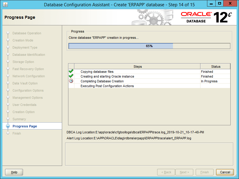 Oracle DBCA 12.2 - Step 14