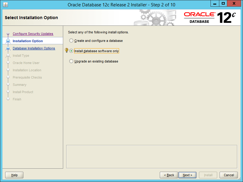 Oracle 12.2 OUI - Step 02