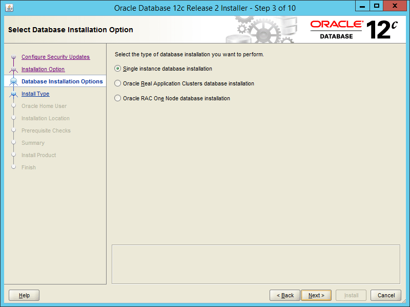 Oracle 12.2 OUI - Step 03