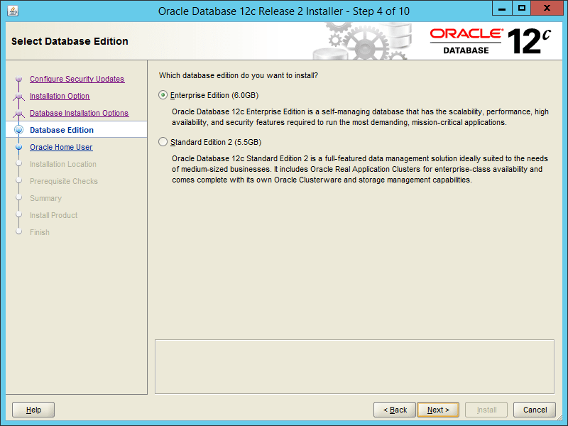 Oracle 12.2 OUI - Step 04