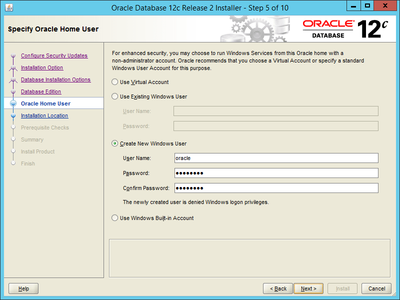 Oracle 12.2 OUI - Step 05