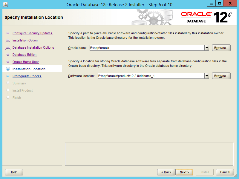 Oracle 12.2 OUI - Step 06