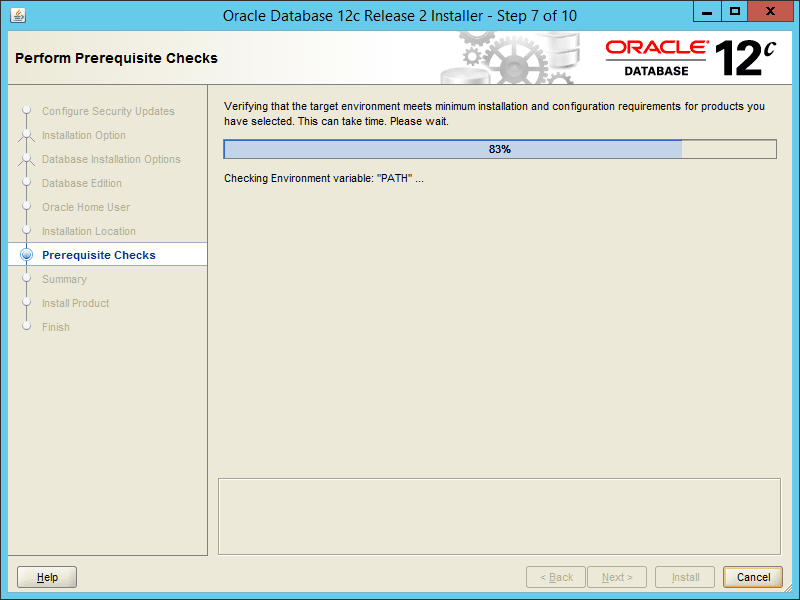 Oracle 12.2 OUI - Step 07