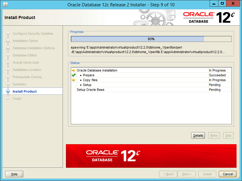 Oracle 12.2 OUI - Step 09