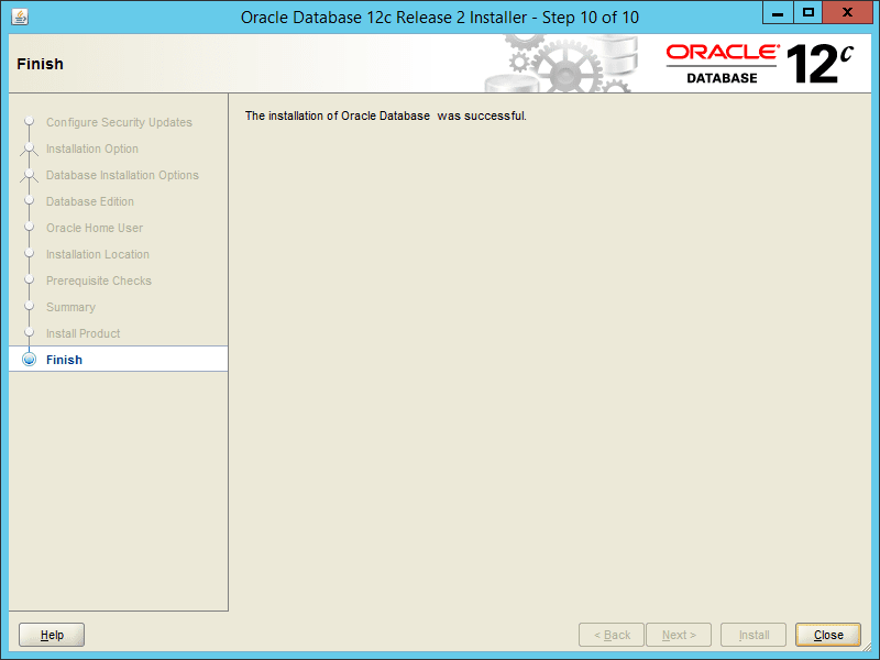 Oracle 12.2 OUI - Step 10