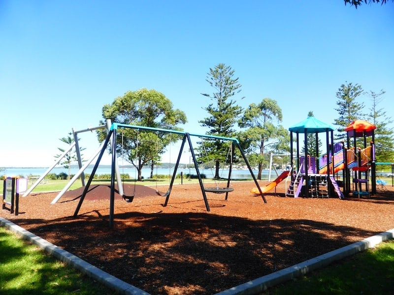 Situated close to Lake Macquarie, Rathmines Park is a fun plane-themed playground. Once the home to the RAAF Catalina Flying Boat Base, the playground incorporates different plane-themed play equipment including a plane that kids can climb into and over and a little plane wobbly. What's terrific about this park is that it caters to different age groups. It has baby swings and stairs that toddlers can climb up as well a huge climbing structure, a flying saucer swing and a mega flying fox for older kids. For a family day out that combines fun and history, visit Rathmines Park