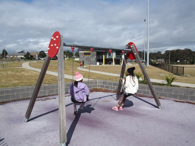 Located in Fletcher, Kurraka Drive Playground suits young and old kids alike. There's a smaller play area that's covered in shade cloth which is perfect for younger kids especially with soft foam flooring. Older kids will love the massive climbing structure. All this plus plenty of area to run around.